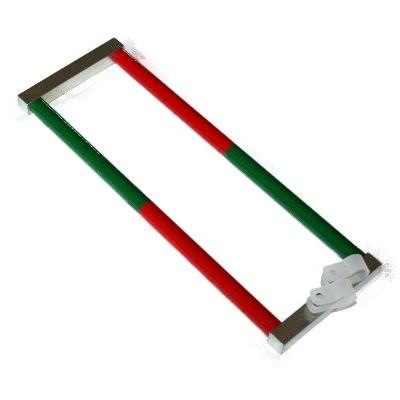 Set: 2 Stabmagnete 10x200 mm Al5 rot-grün mit Joch und Ösen