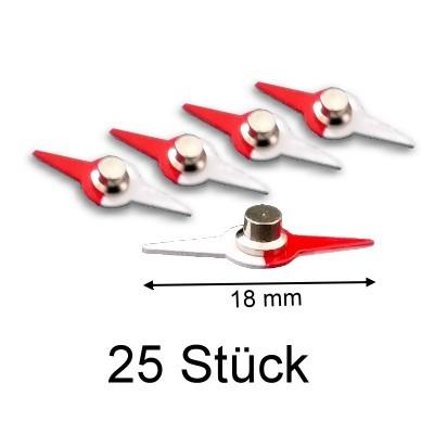 25 Kompassnadeln 18 mm