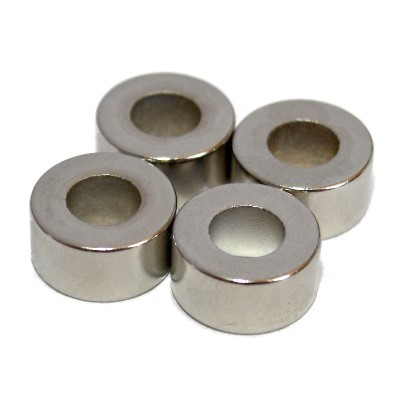 Ringmagnet 12x6x6 mm N48 Nickel