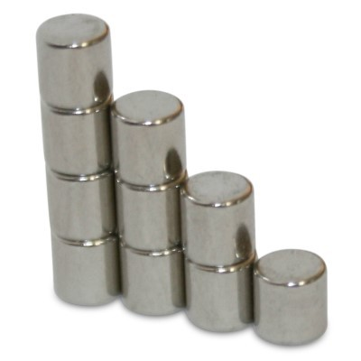 Stabmagnet 4x4 mm N45 Nickel