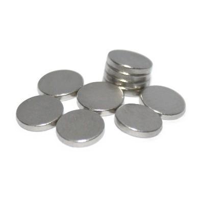Scheibenmagnet 6x1 mm N45 Nickel