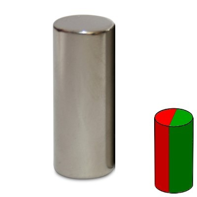 Stabmagnet 10x25 mm N45 Nickel diametral