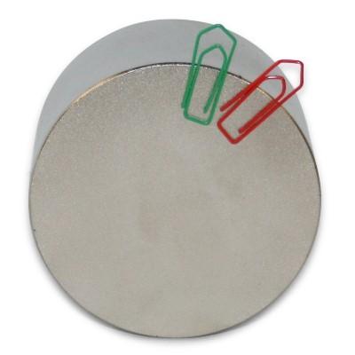 Scheibenmagnet 70x40 mm N42 Nickel