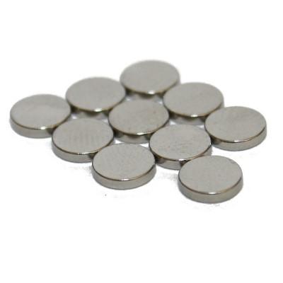 Scheibenmagnet 5x1 mm N45 Nickel