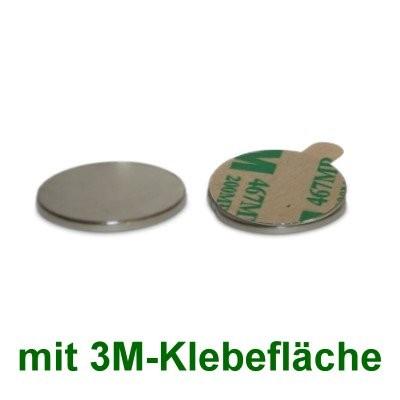 10 Scheibenmagnete 20x1 mm selbstklebend