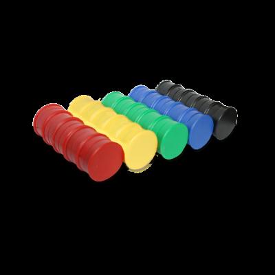 50 Kunststoffmagnete 25 mm Ferrit im Farbmix zum Sonderpreis