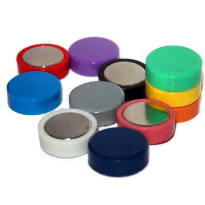 Kunststoffmagnet 20 mm Neodym, 11 Farben wählbar