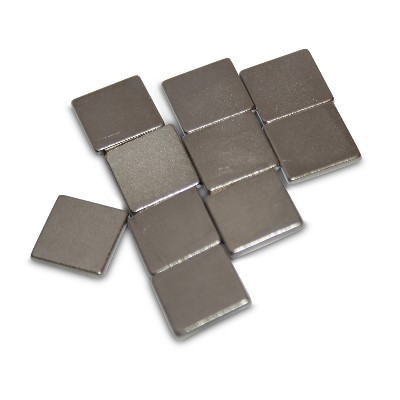Quadermagnet 10x10x1 mm N45 Nickel
