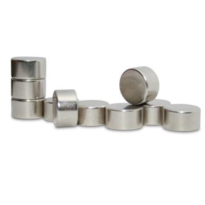Scheibenmagnet 9x5 mm N50 Nickel