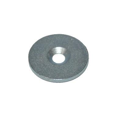 Metallscheibe 27 mm mit Bohrung und Senkung