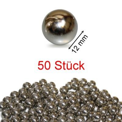 50 Stahlkugeln 12 mm ungehärtet