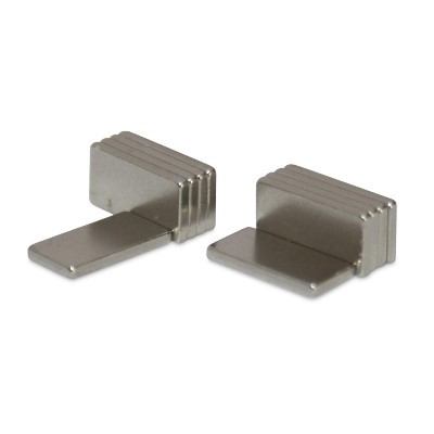 Quadermagnet 10x5x1 mm N52 Nickel