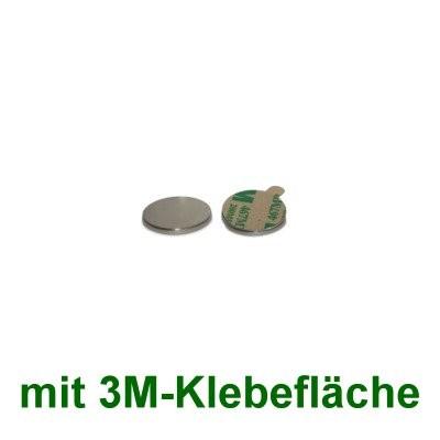 20 Scheibenmagnete 6x1 mm selbstklebend