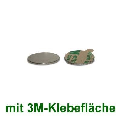 20 Scheibenmagnete 10x0,6 mm selbstklebend