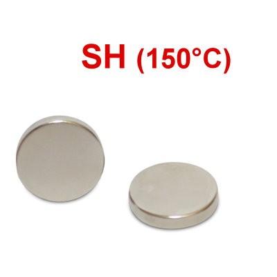 Scheibenmagnet 15x3 mm N44SH Nickel - hocherhitzbar
