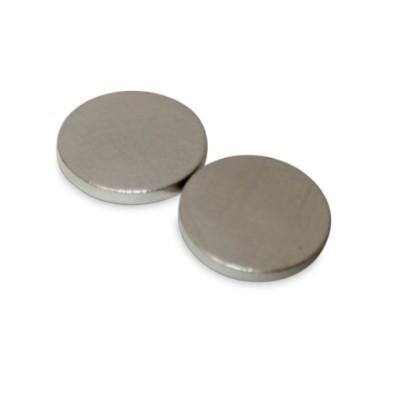 Scheibenmagnet 15x2 mm N42 Nickel