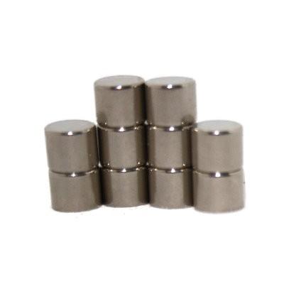Scheibenmagnet 6x5 mm N45 Nickel