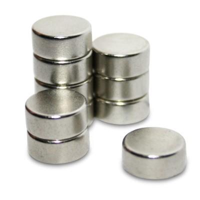 Scheibenmagnet 10x4 mm N42 Nickel