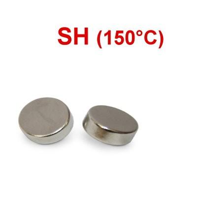 Scheibenmagnet 8x3 mm N44SH Nickel - hocherhitzbar
