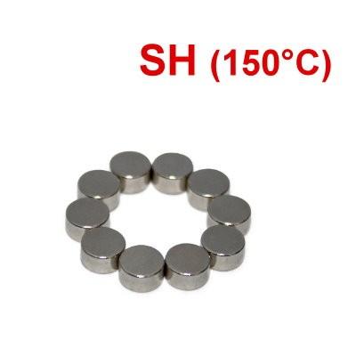 Scheibenmagnet 6x3 mm N44SH Nickel - hocherhitzbar