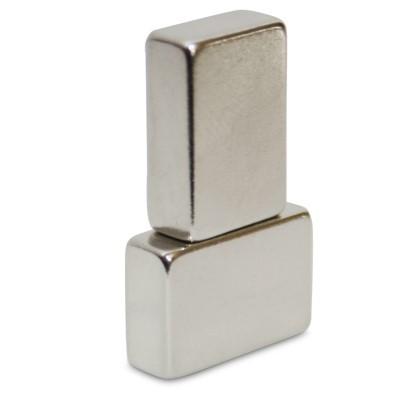 Quadermagnet 15x10x5 mm N45 Nickel