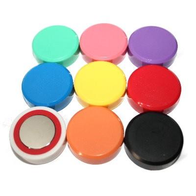 Kunststoffmagnet 30 mm Neodym, 9 Farben wählbar