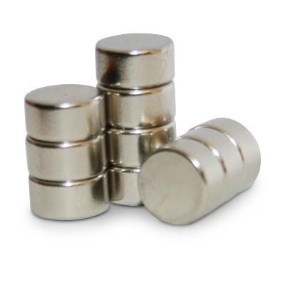 Scheibenmagnet 8x4 mm N45 Nickel