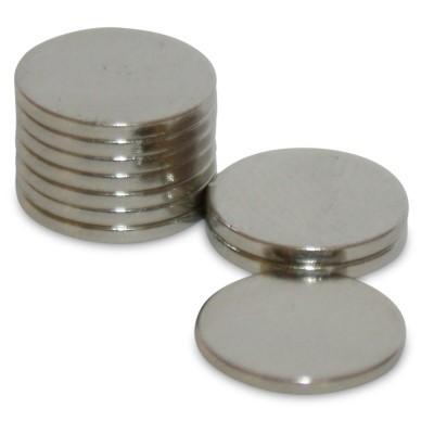 Scheibenmagnet 10x1 mm N42 Nickel