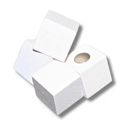 Pinnwandmagnet Holzwürfel weiß mit Neodym 20 mm