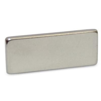 Quadermagnet 25x10x2 mm N45 Nickel