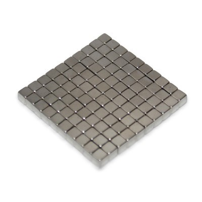 100 Würfelmagnete 3 mm N45 Nickel