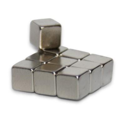 Würfelmagnet 5 mm N52 Nickel - extra stark
