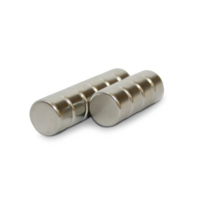 Scheibenmagnet 6x4 mm N45 Nickel