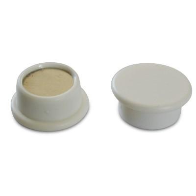 Kunststoffmagnet 18 mm Neodym, weiß