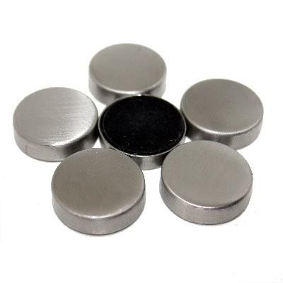Pinnwandmagnet mit Edelstahlgehäuse und Filzboden 25 mm