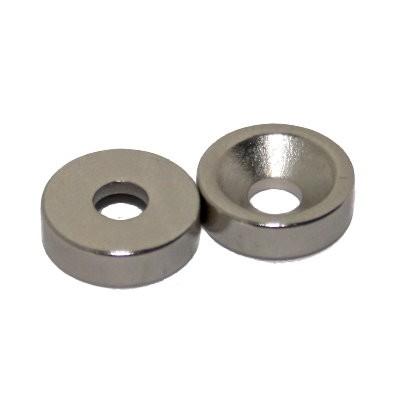 Ringmagnet 10x3x3 mm N45 Nickel mit Senkung