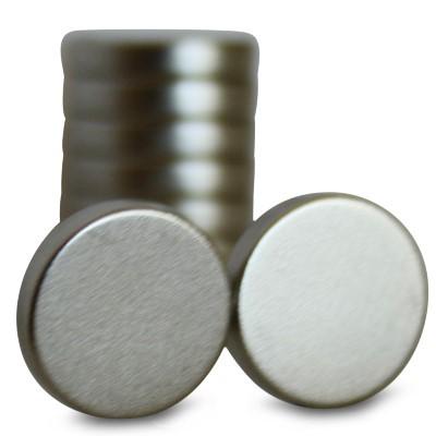 Scheibenmagnet 10x3 mm N42 Nickel