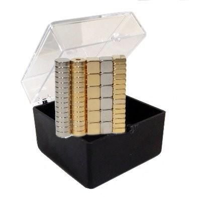 Set 57: 57 kleine Neodymmagnete in Geschenkbox