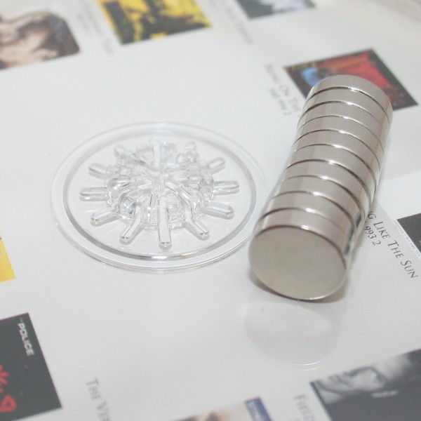 Scheibenmagnet 12,5x3,2 mm N45 Nickel