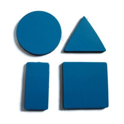 Symbole 20 mm gemischt, Bogenware aus Magnetfolie, blau