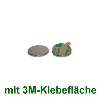 20 Scheibenmagnete 8x1 mm selbstklebend