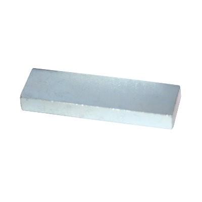 Metallblock 50x15x6 mm - das Vergleichsstück
