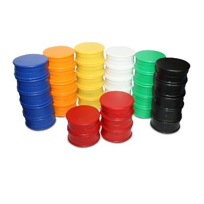 10 Kunststoffmagnete 40 mm Ferrit, 6 Farben wählbar