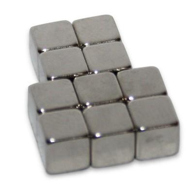 Würfelmagnet 5 mm N42 Nickel