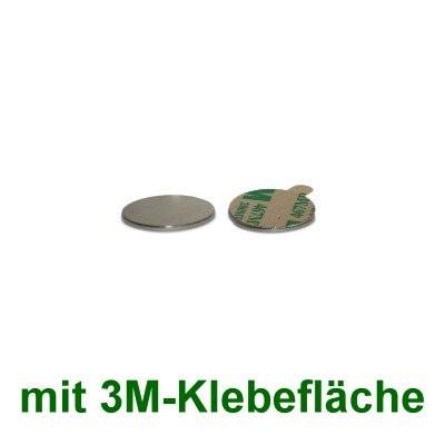 20 Scheibenmagnete 8x0,75 mm selbstklebend
