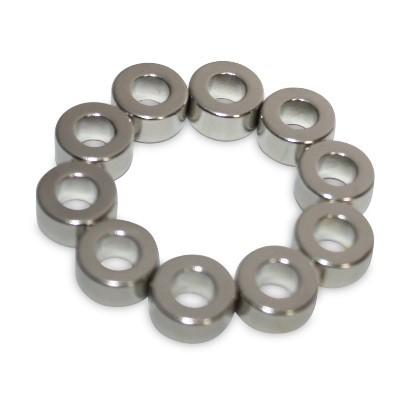 Ringmagnet 10x5x5 mm N42 Nickel