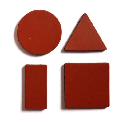 Symbole 20 mm gemischt, Bogenware aus Magnetfolie, rot