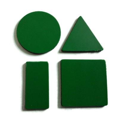 Symbole 20 mm gemischt, Bogenware aus Magnetfolie, grün