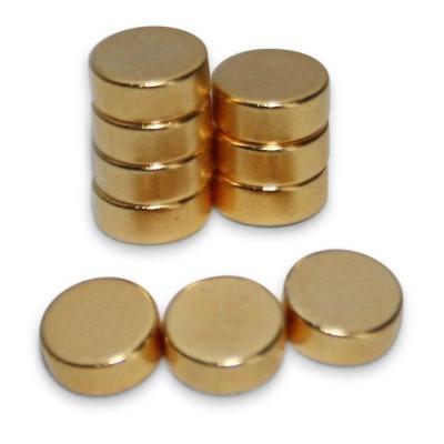 Scheibenmagnet 5x2 mm N45 Gold