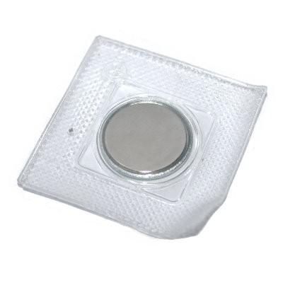 Scheibenmagnet 18x2 mm N45 in PVC zum Einnähen in Stahlhülle